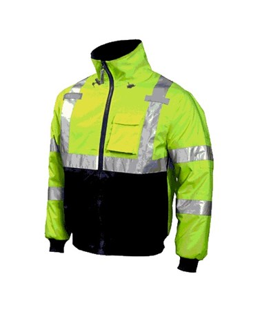 Bomber Premium ANSI Compliant High Visibility Insulated Jacket Fluorescent Yelloe - Green
