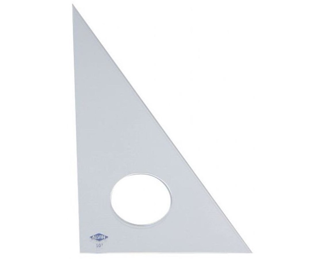 Alvin Clear Professional Acrylic Triangle 30°/60° 130C-1
