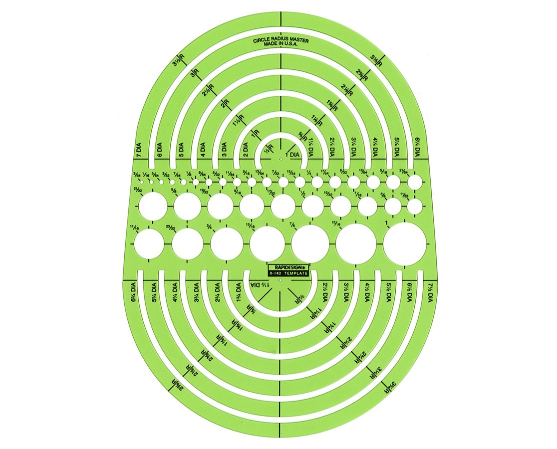 Rapidesign Circle Radius Master Template 142R