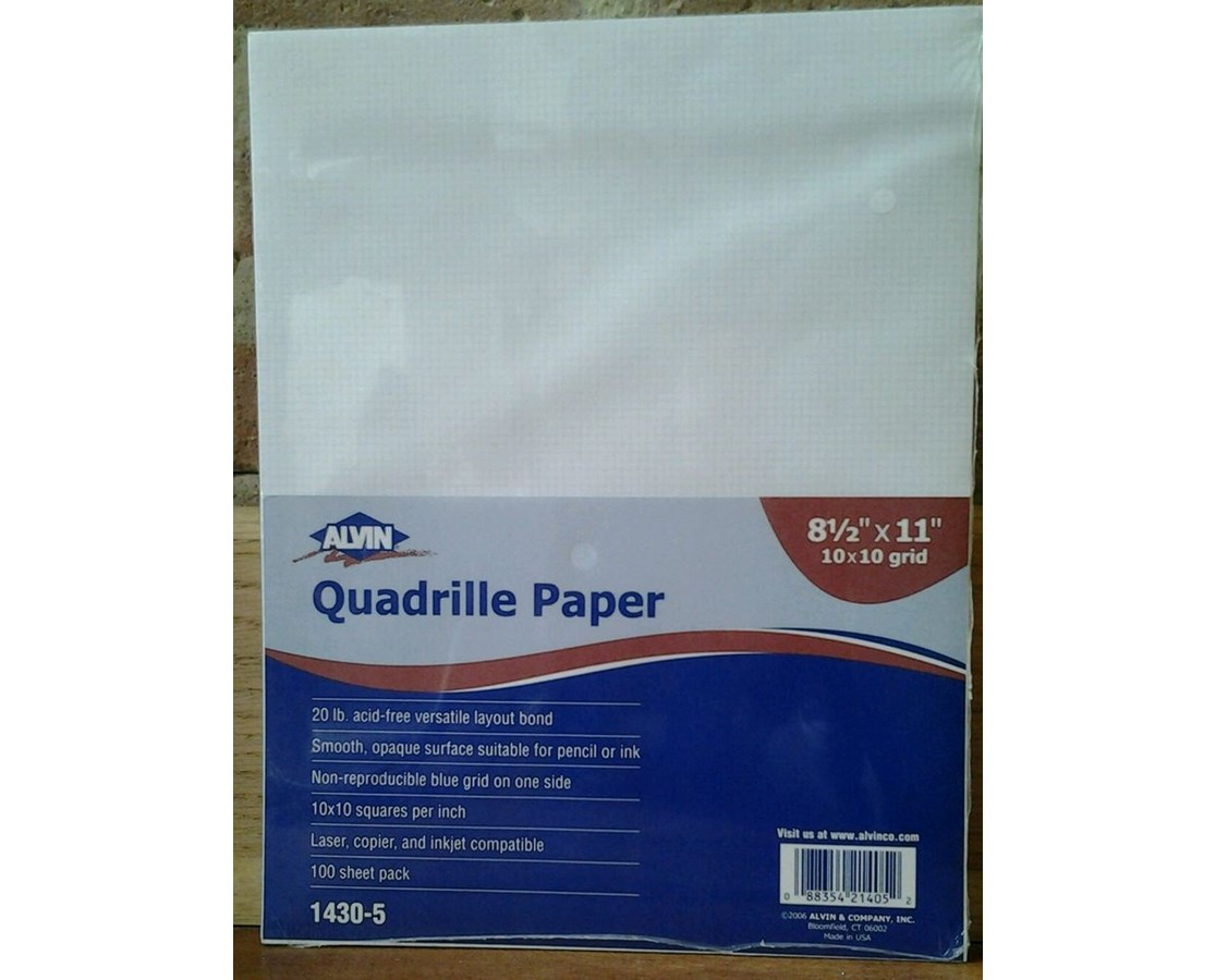 Alvin Quadrille Paper With 10 x 10 Grid (Qty. 100 Sheets) 1430-50