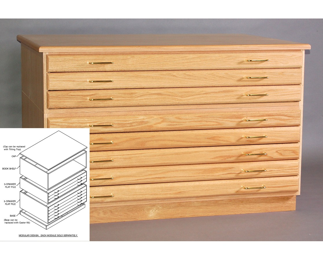 Smi 3 drawer oak 24 x 36 plan file f2436 3d tiger supplies smi oak 3 drawer flat file for 24 x 36 inch sheets malvernweather Images