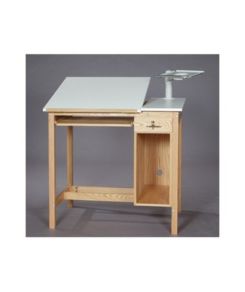 Merveilleux SMI Drafting Computer Table Natural Oak F3042 CT1