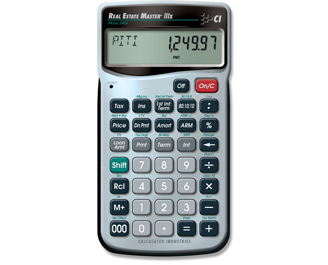 Calculated Industries Real Estate Master IIIx Calculator