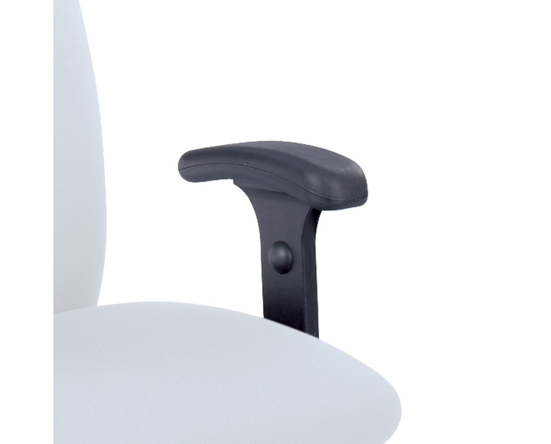 Safco Optional T-Pad Arms for Uber Big and Tall Chairs (Set), Black 3496BL