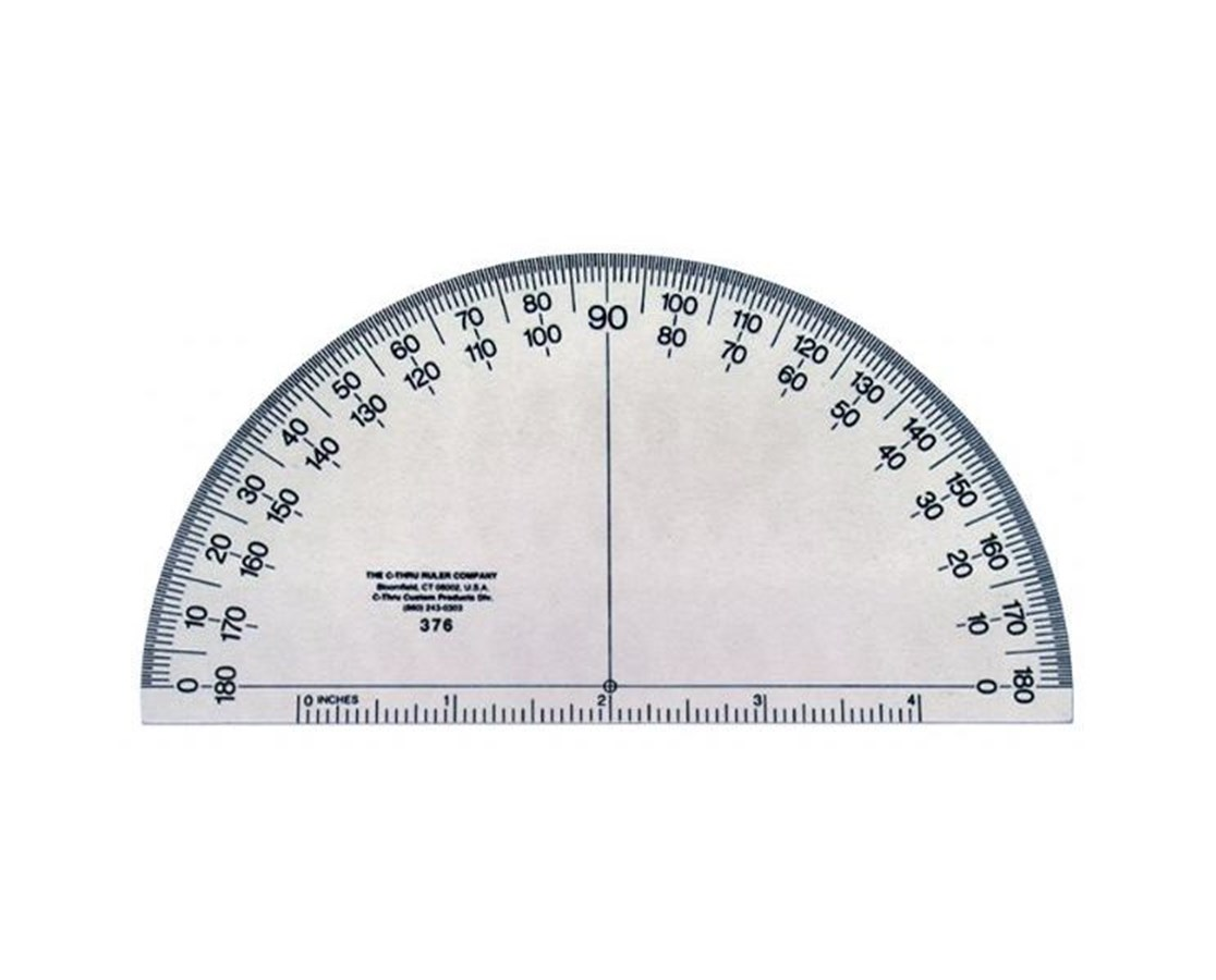 PROTRACTOR 6 INCH SOLID 376