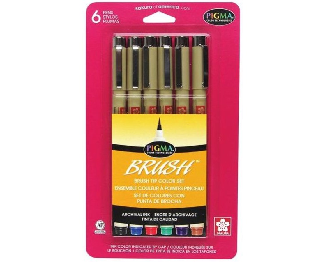 PEN BRUSH SET 6PK ASSTD 38061