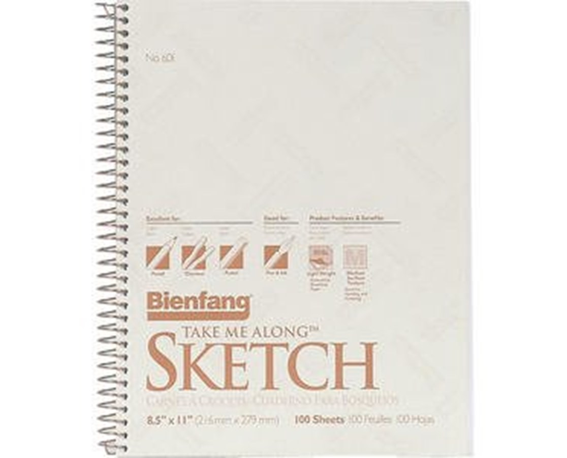 Bienfang Take Me Along Sketch Book (Qty. 100 Sheets) 601SD-1040