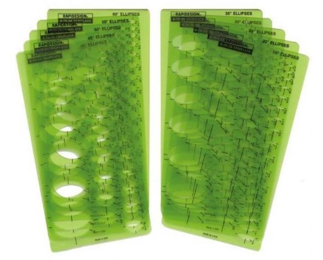Rapidesign Ellipse Series Template Set Qty 10 Tiger Supplies