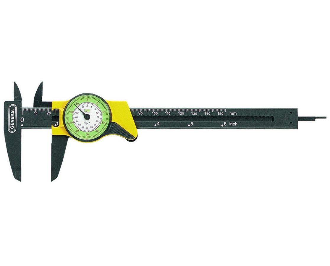 General 6-Inch Precision Swiss Dial Caliper 80D