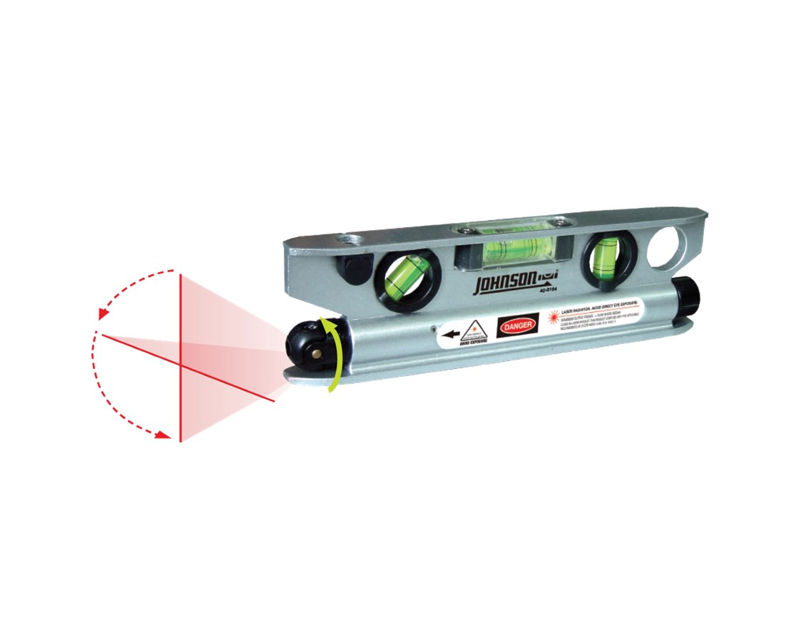 Johnson 4-Vial Magnetic Torpedo Laser Level 40-6164