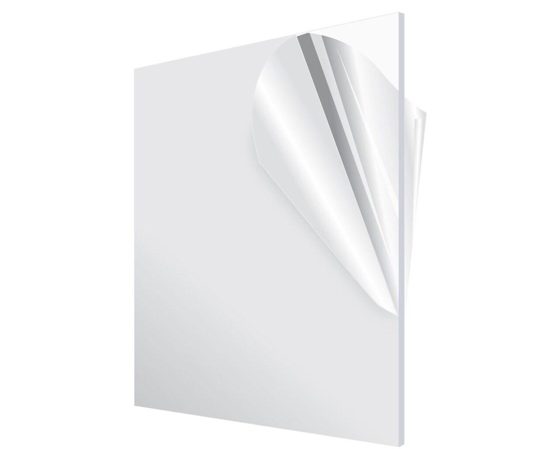 AdirOffice Clear Acrylic Plexiglass Sheet 1/8 Inches Thick 1212-1-C ...