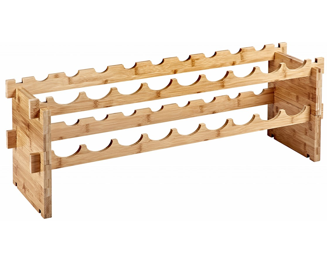 AdirHome 18-Bottle Bamboo Wine Rack ADI305