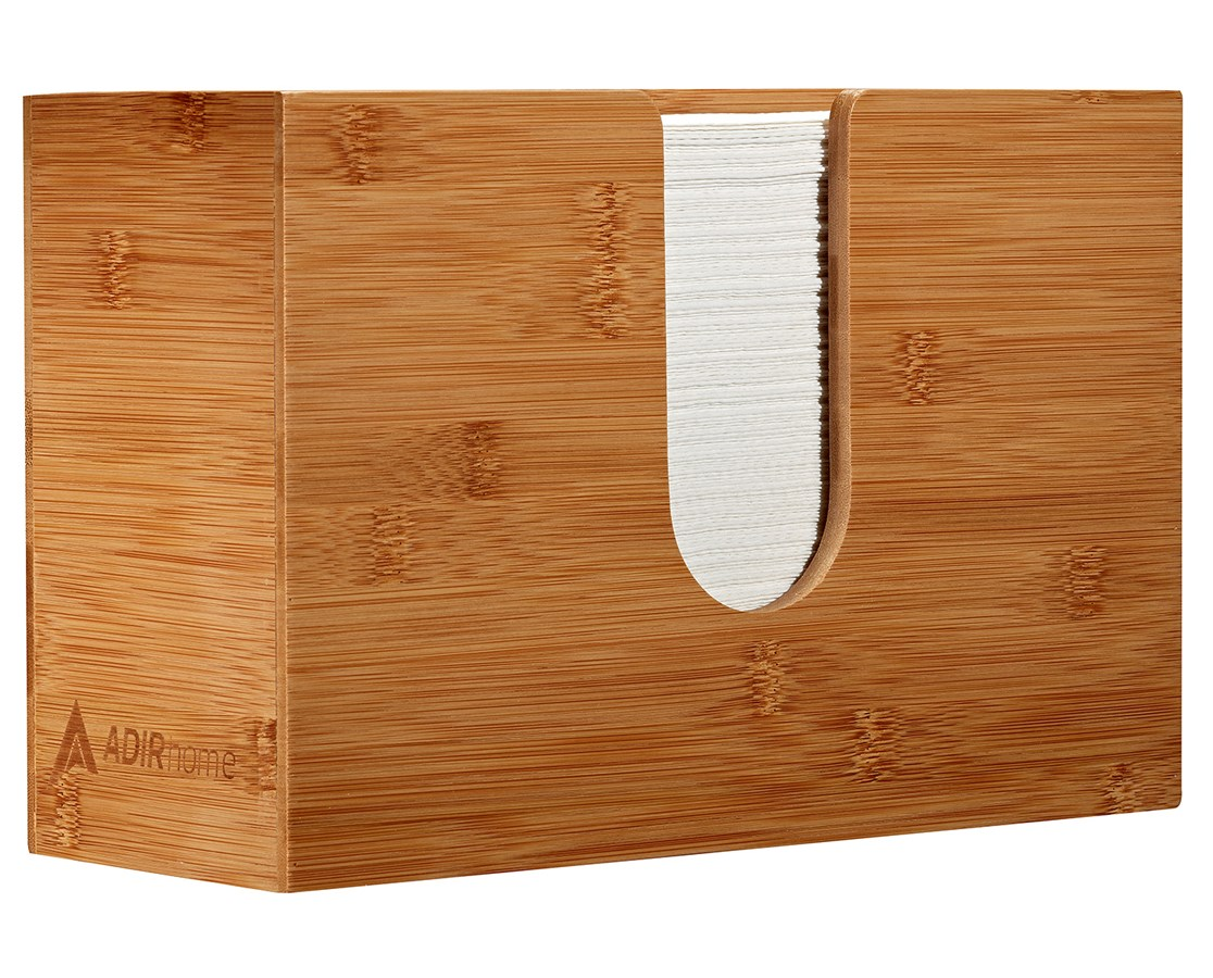 AdirHome-Bamboo-Paper-Towel-Dispenser-Paper-Towel-150-Multifold-Paper-Holder thumbnail 22