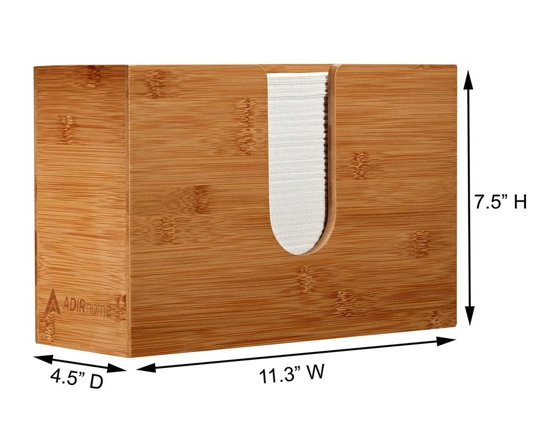 AdirHome-Bamboo-Paper-Towel-Dispenser-Paper-Towel-150-Multifold-Paper-Holder thumbnail 26