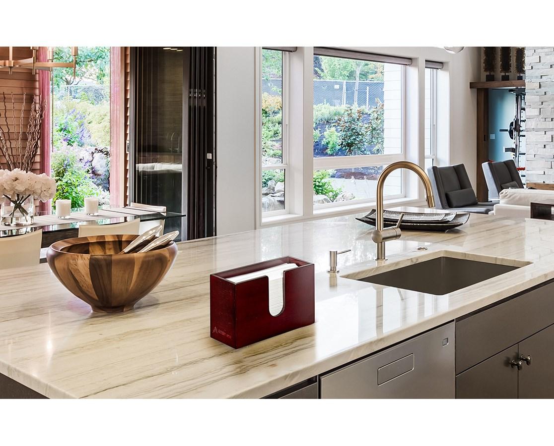 AdirHome-Bamboo-Paper-Towel-Dispenser-Paper-Towel-150-Multifold-Paper-Holder thumbnail 18