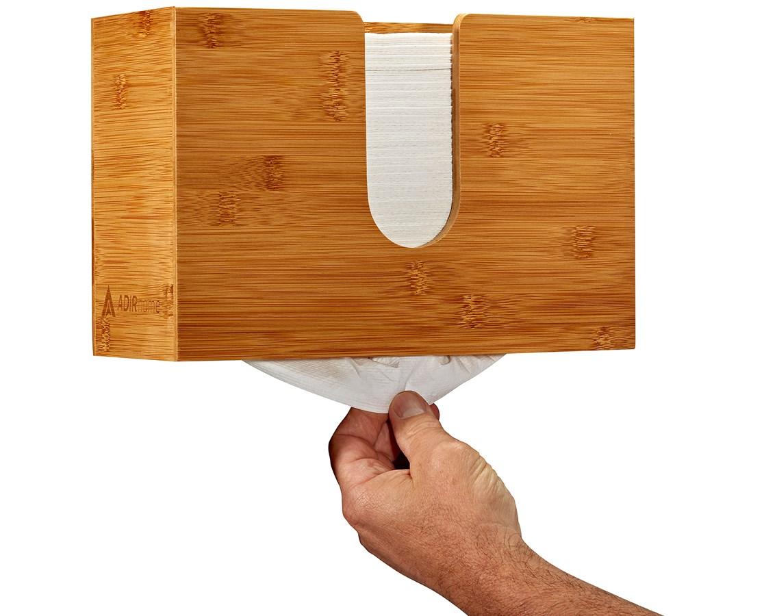 AdirHome-Bamboo-Paper-Towel-Dispenser-Paper-Towel-150-Multifold-Paper-Holder thumbnail 21