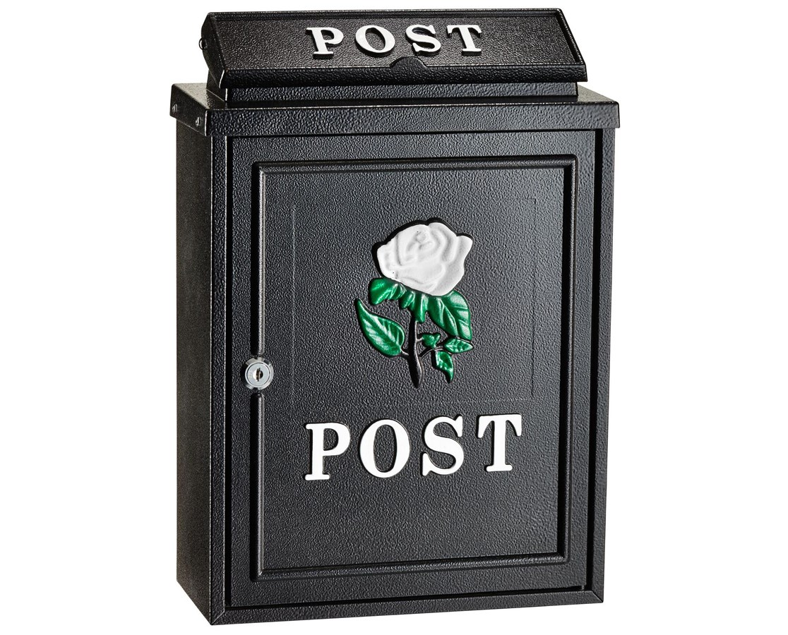 AdirHome Embossed Rose Postbox ADI631-0801