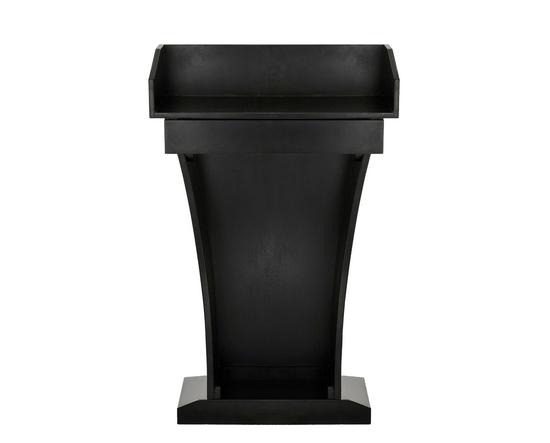 Wood Speaking Lectern, Drawer and Storage Area ADI661-012-BLK