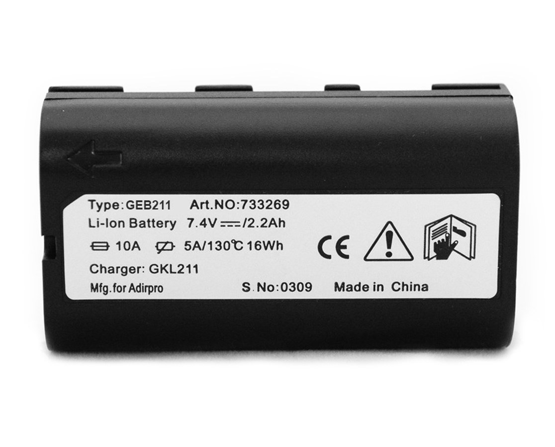 AdirPro GEB211 Li-ion Battery for Data Collector and GNSS Receiver (Leica Compatible)