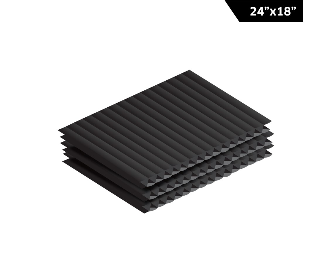 AdirOffice Corrugated Plastic Sheet ADICS2418-12-B-