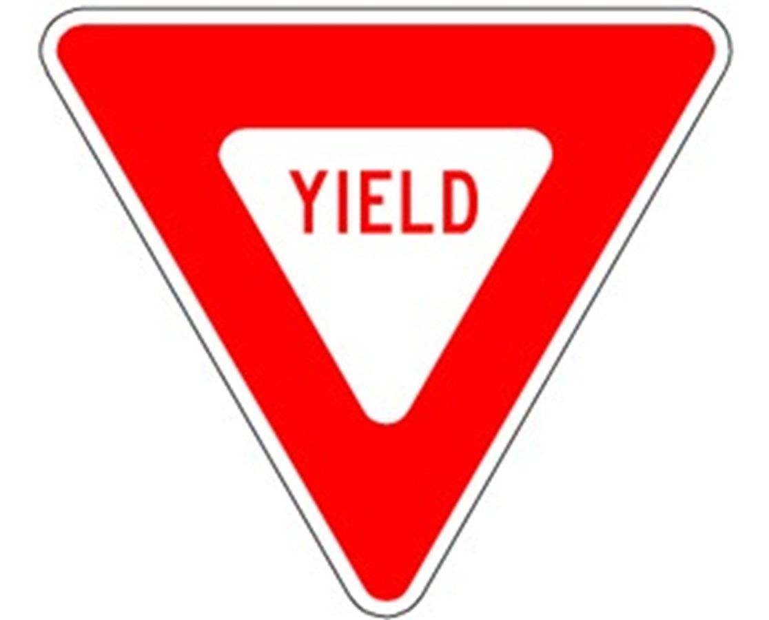 Eastern Metal R1-2 Yield Symbol Rigid Sign AL-30080-HIW-R1-2