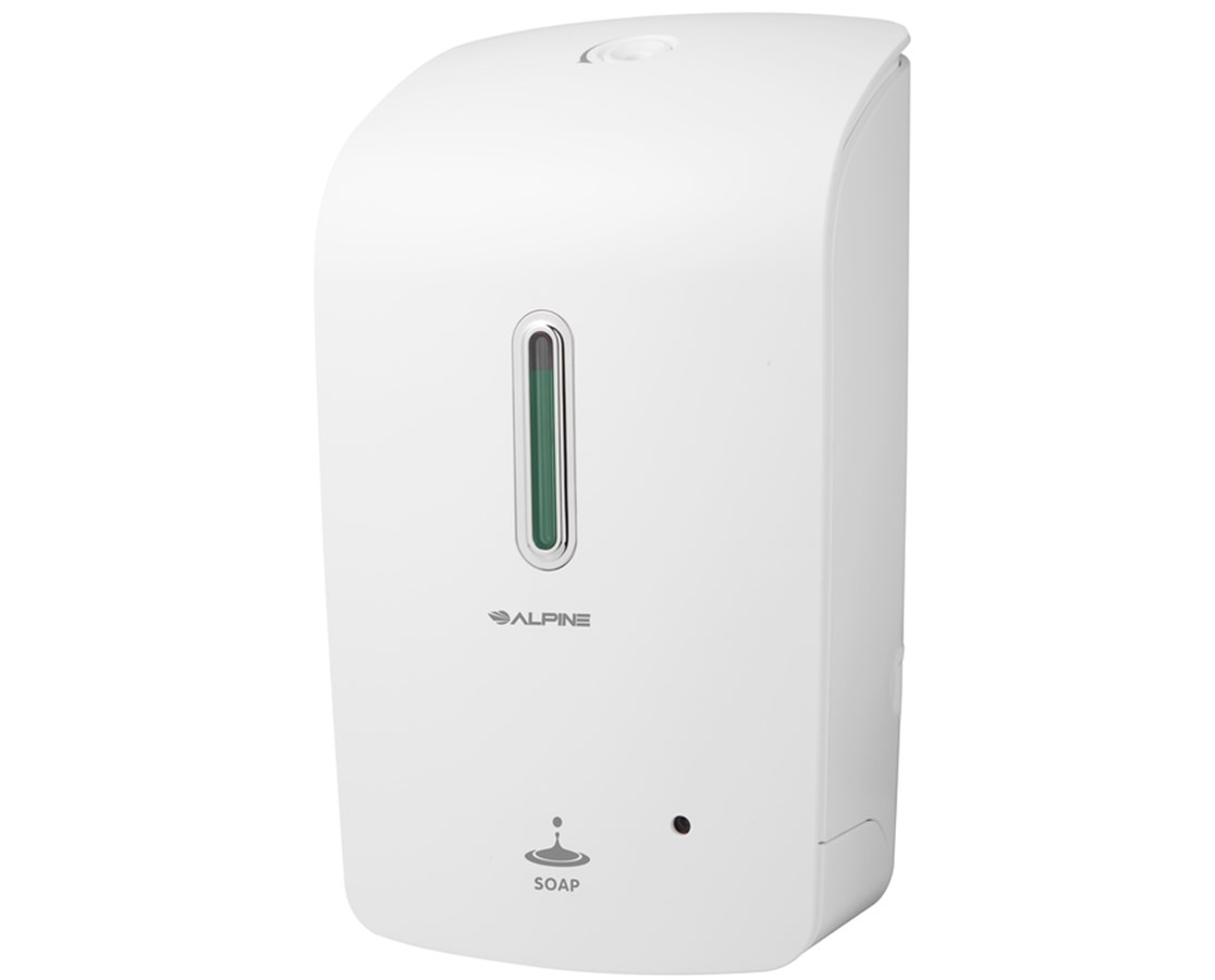 Alpine Automatic Hands-Free Liquid Soap Dispenser ALP421-WHI-