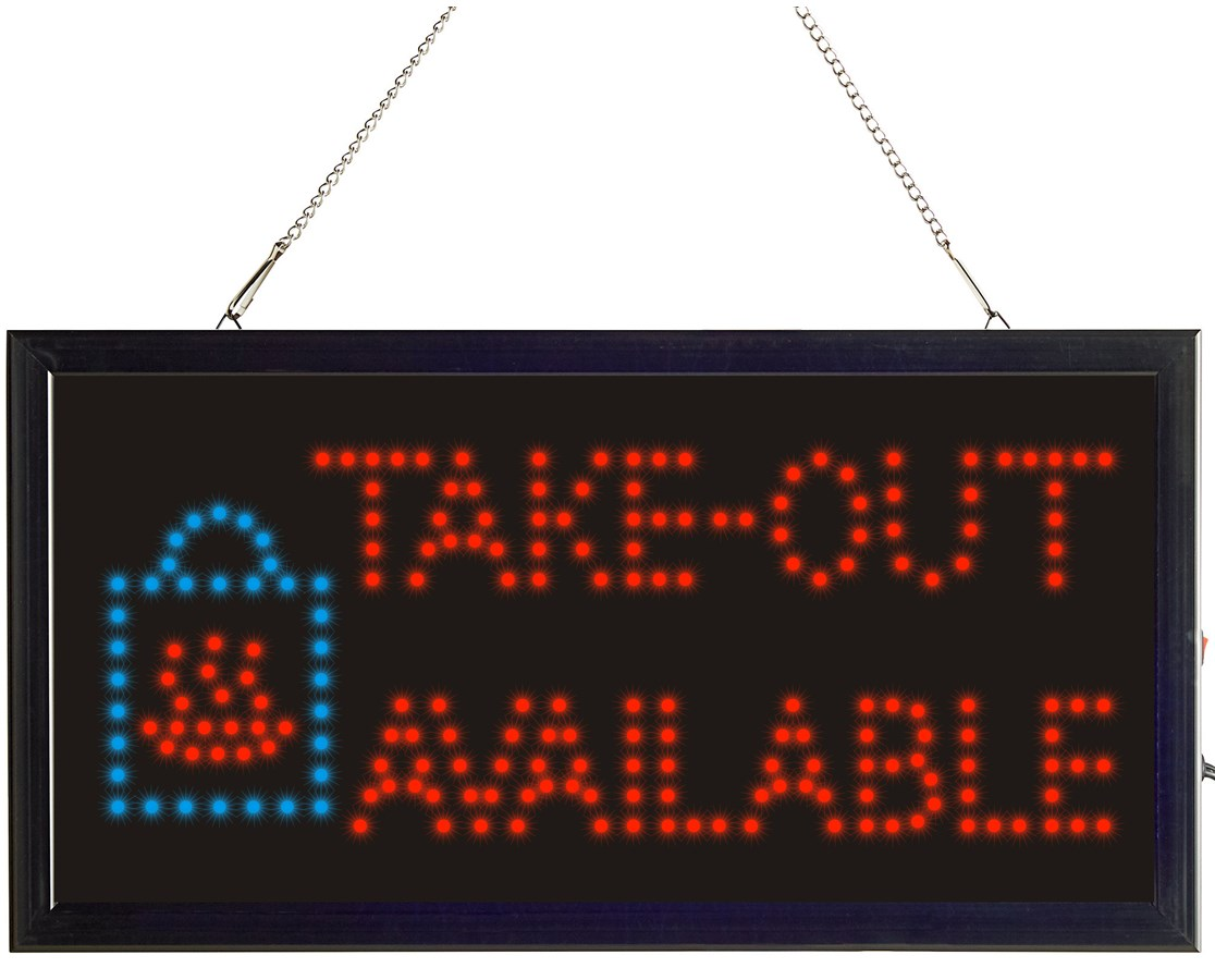 LED Take Out Sign with Two Display Modes ALP497-15