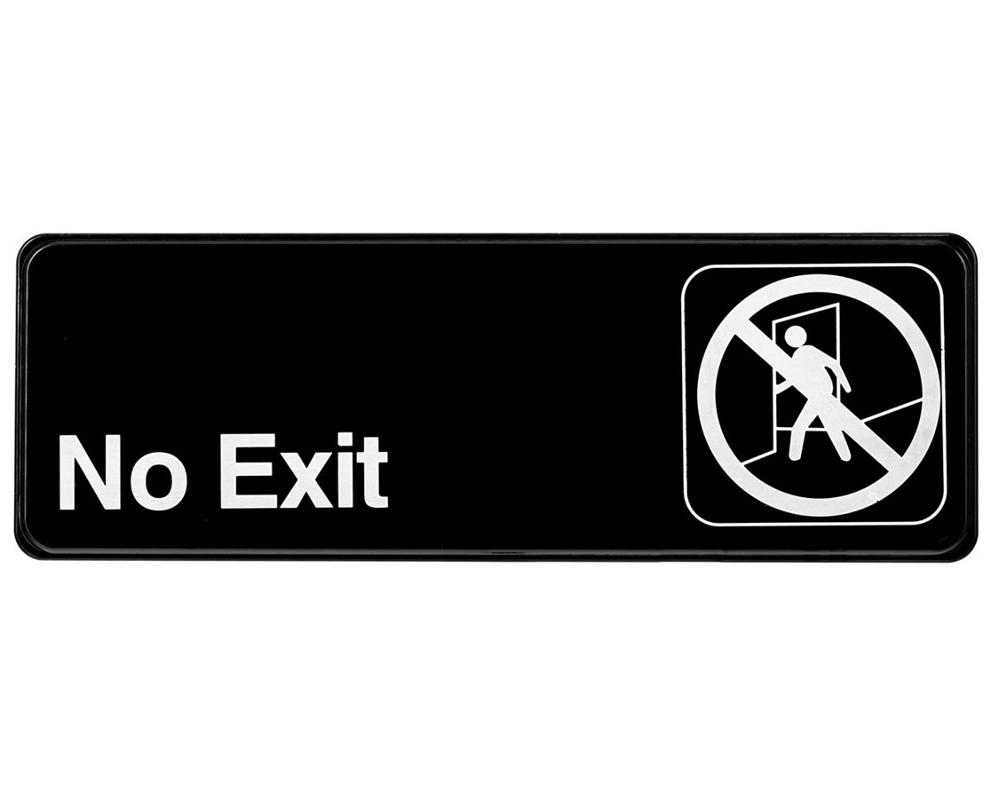 Alpine No Exit Sign ALPSGN-35