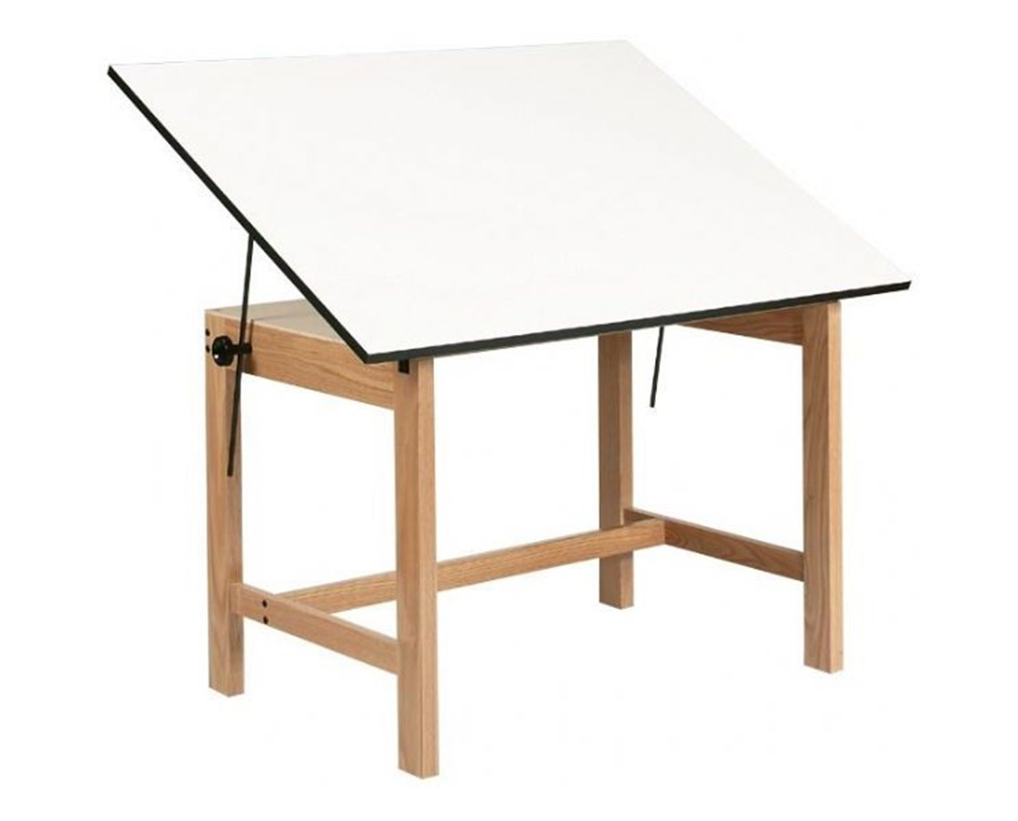 Alvin Titan Solid Oak Drafting Table WOB42