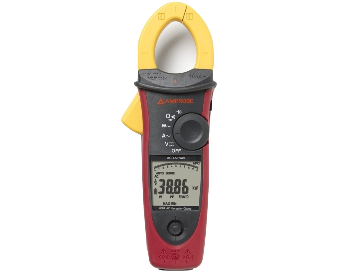 Amprobe ACD-50NAV Series CAT IV True-RMS Navigator Clamp Meter AMP3729945-