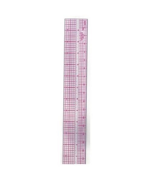 "Westcott B-90 Plastic Pica Beveled Ruler  2/"" x 18/"""