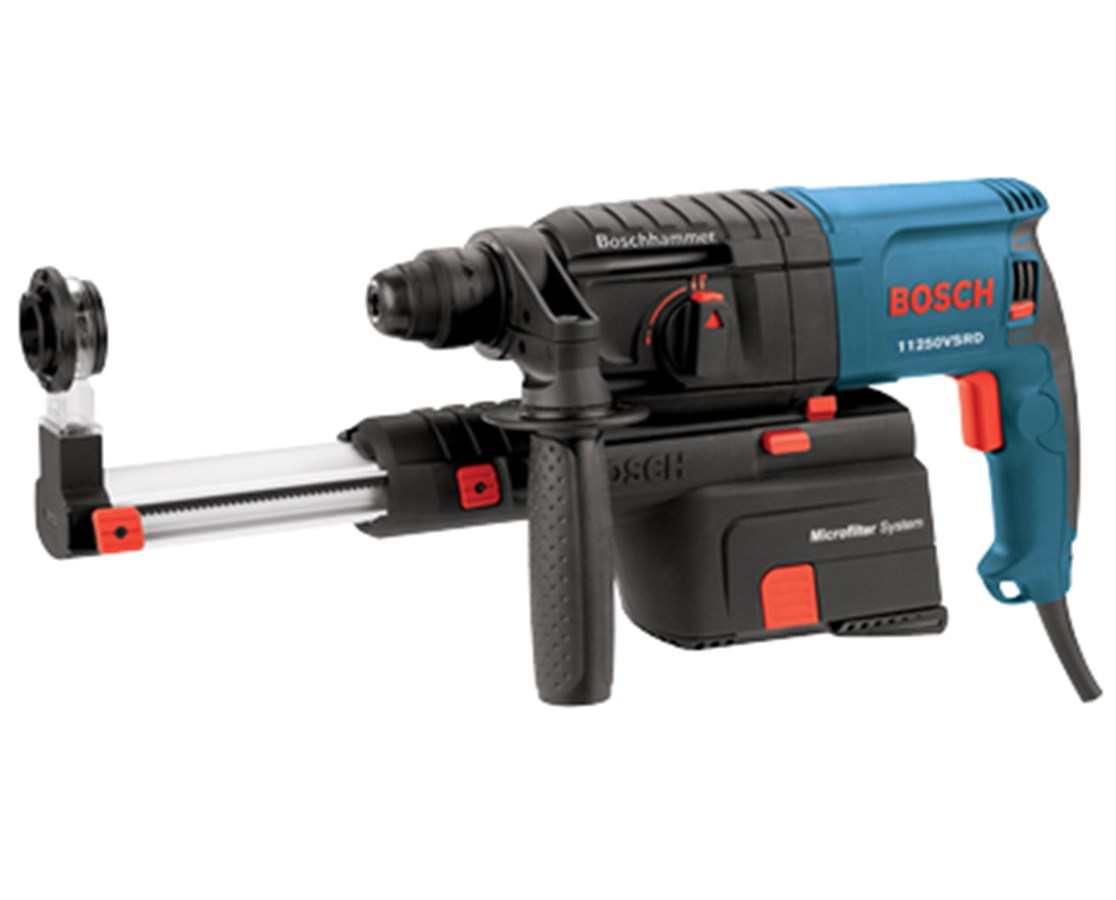 bosch 11250vsrd 3 4in sds plus bulldog rotary hammer with dust collection tiger supplies. Black Bedroom Furniture Sets. Home Design Ideas