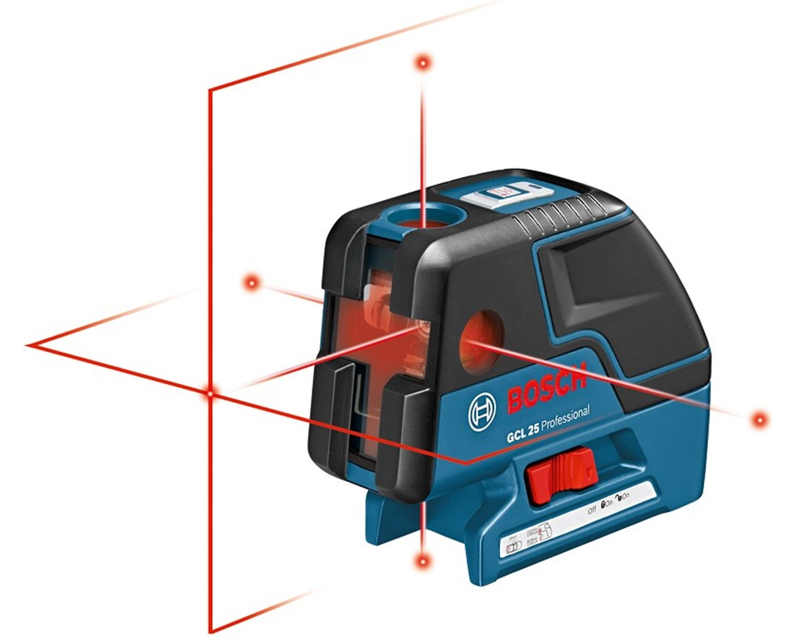 Bosch GCL 25 Self Leveling 5-Point Alignment Laser with Cross-Line