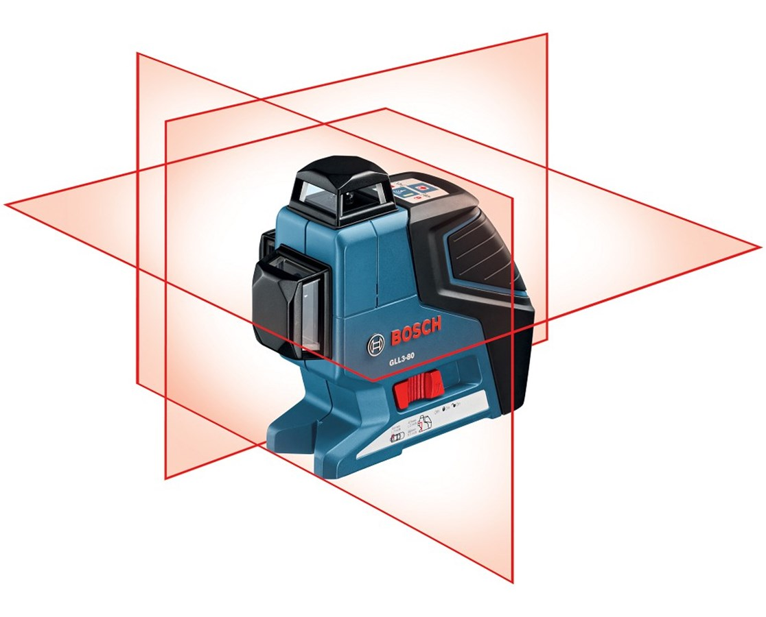 Bosch 3 Plane Leveling/Alignment Laser GLL3-80