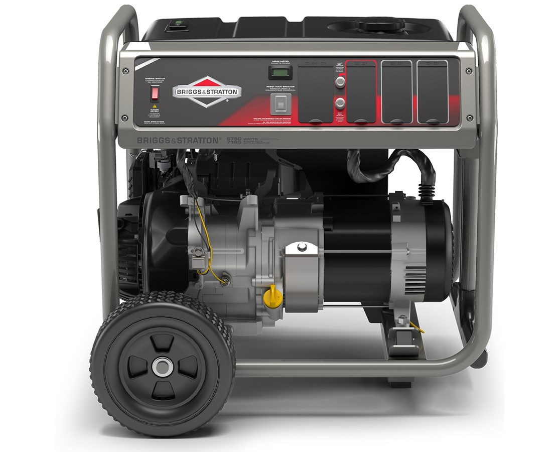 Briggs & Stratton Portable Generator w/ PowerBuilt Engine & Hour Meter BRI30713-