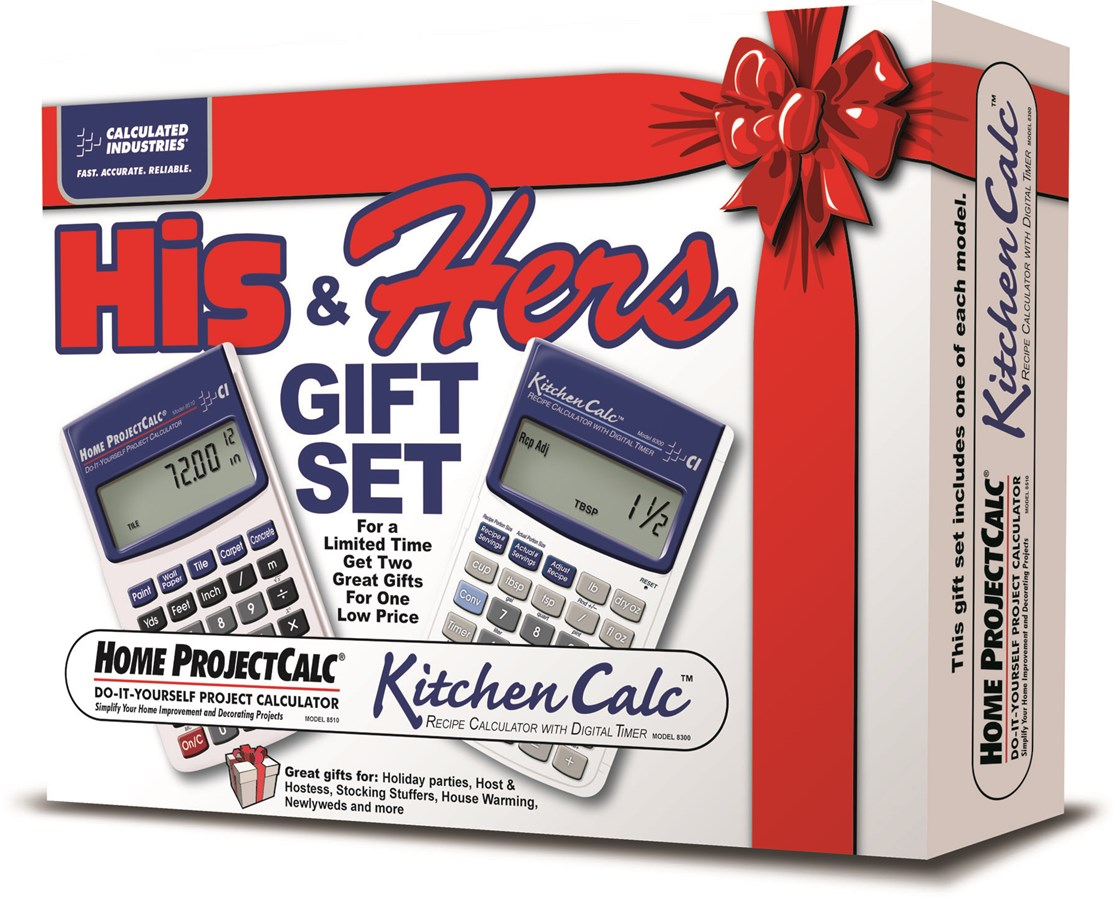 Calculated Industries His and Hers Calculator Gift Set