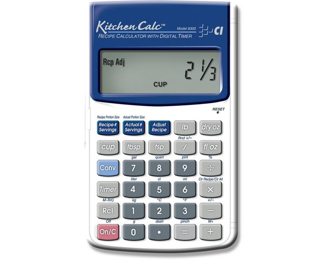 How to cut a recipe in half calculator.