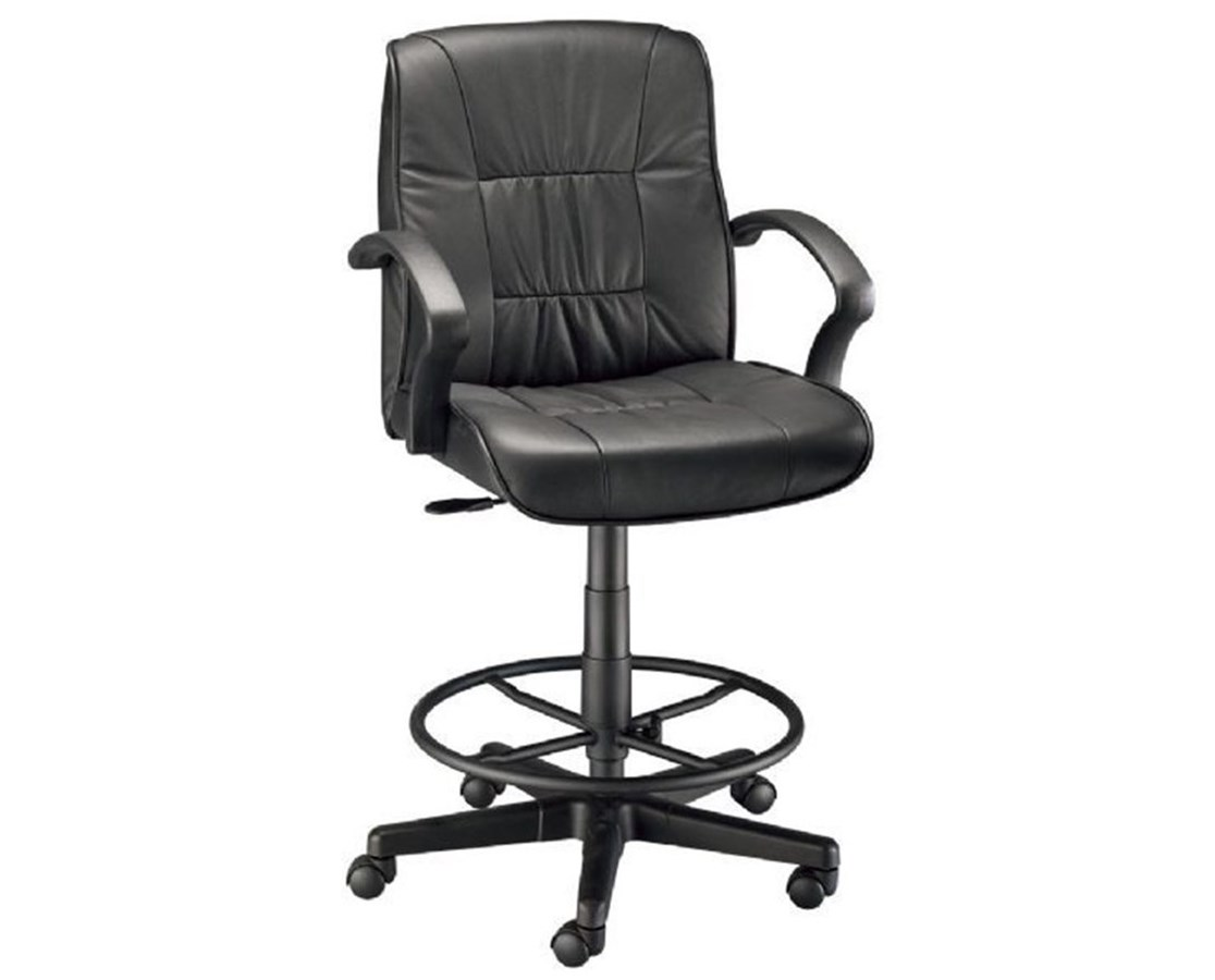 Alvin Art Director Executive Leather Drafting Height Chair CH777 90DH