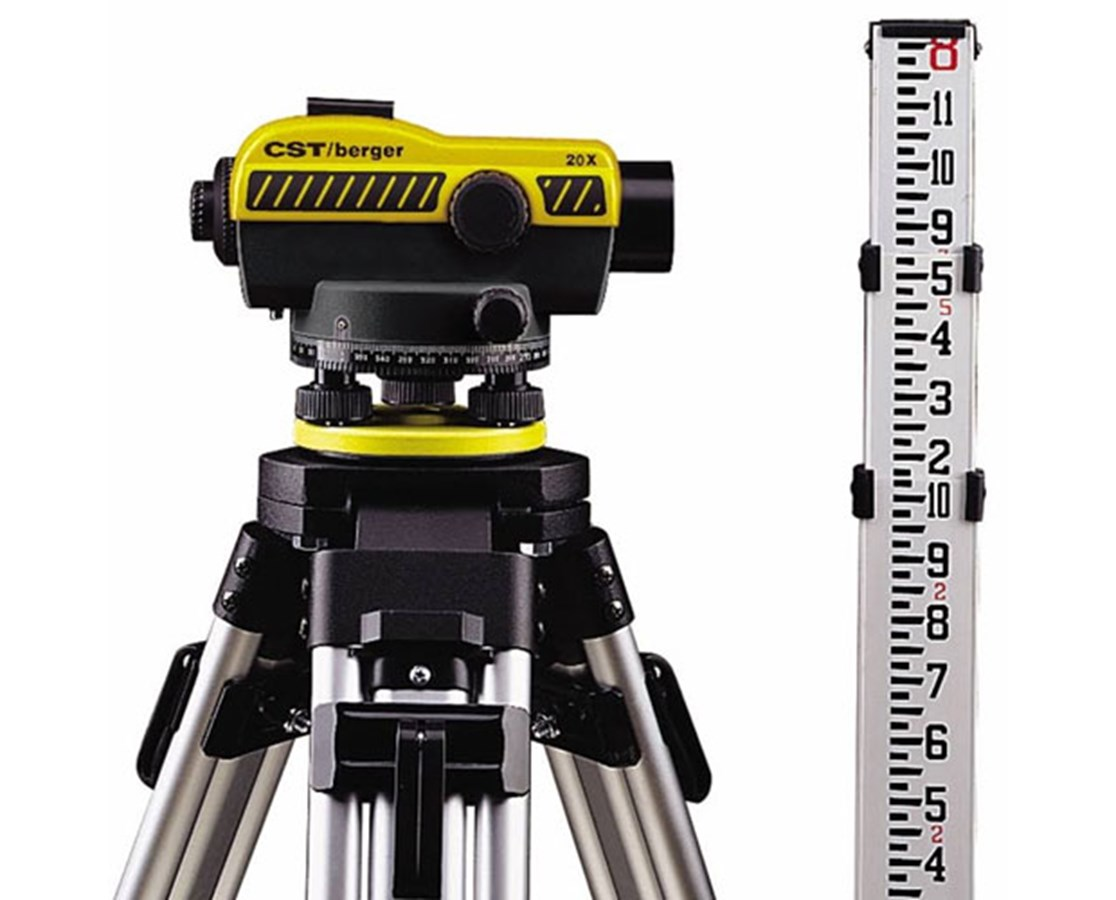 CST/Berger 24x Auto Level Kit with Tripod and Rod CST55-SLVP20ND-