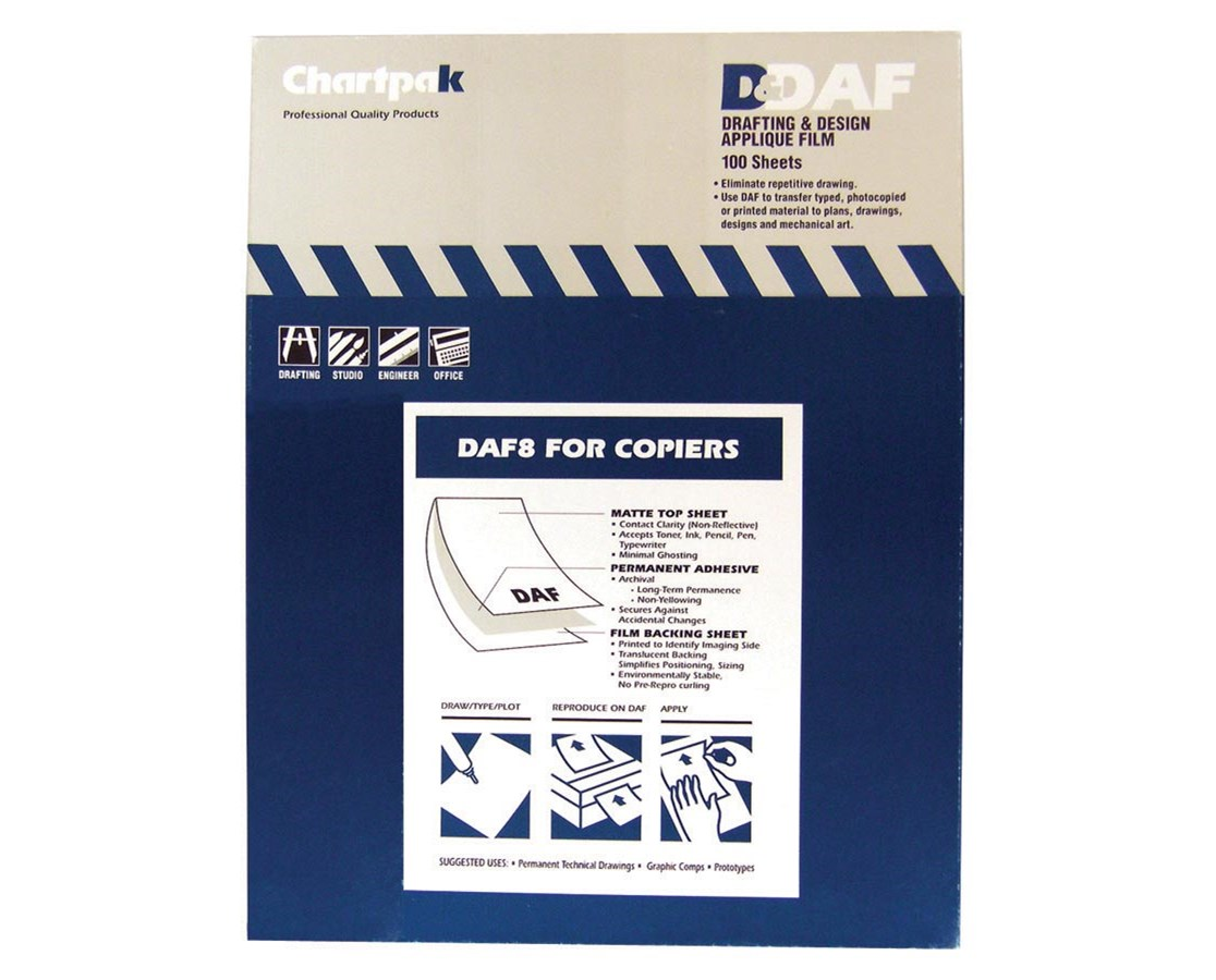 Chartpak Drafting & Design Applique Film DAF80