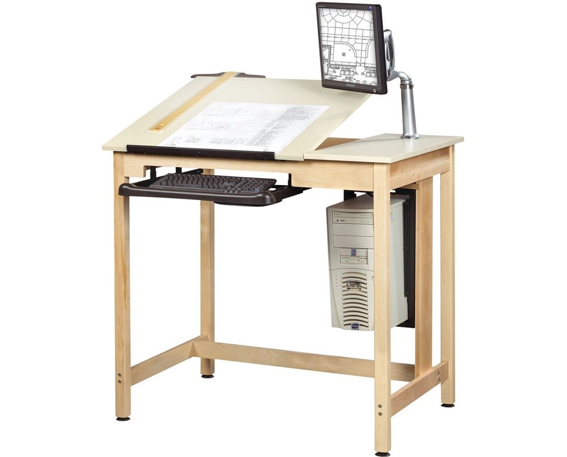 Diversified Woodcrafts Deluxe Drawing Table System DIVCDTC-70-