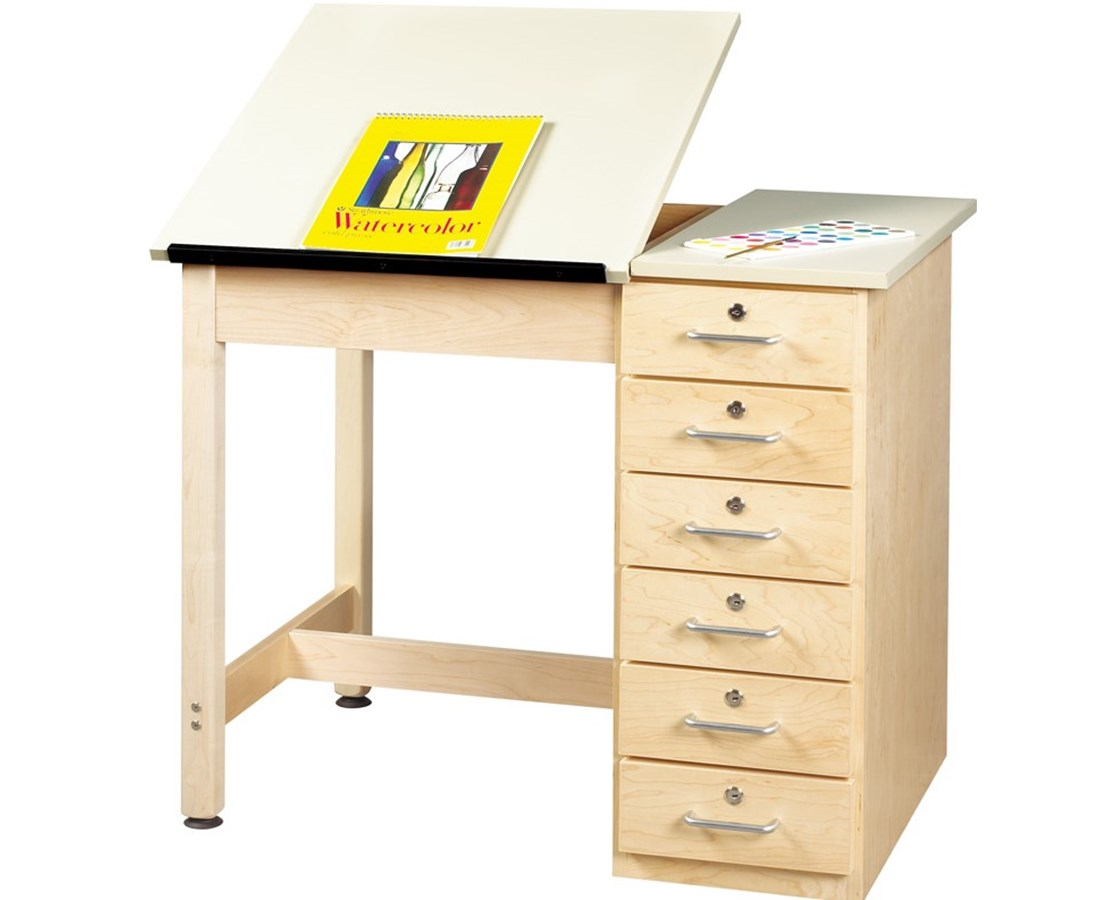 Diversified Dt 4a Woodcrafts Art And Drafting Table With Drawers