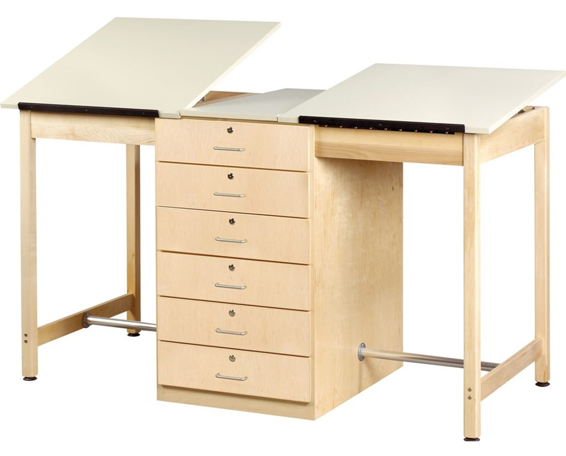 Diversified Woodcrafts 2-Station Art and Drafting Table DIVDT-80A-