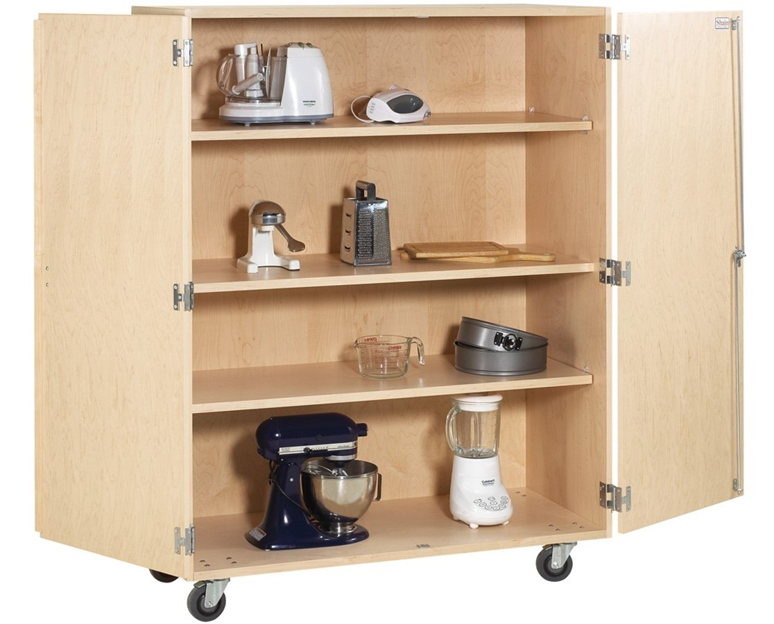 Diversified Woodcrafts Mobile Shelf Storage Cabinet DIVMSSC-200