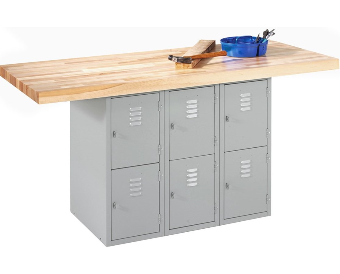 Diversified Woodcrafts 6-Locker Steel Cabinet Workbench DIVWB6ABL-0V-