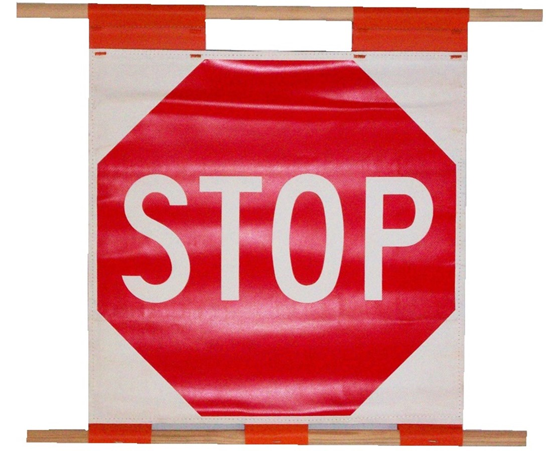 Eastern Metal Scroll Style Roll-Up Stop/Slow Sign EASSS-24-SV-