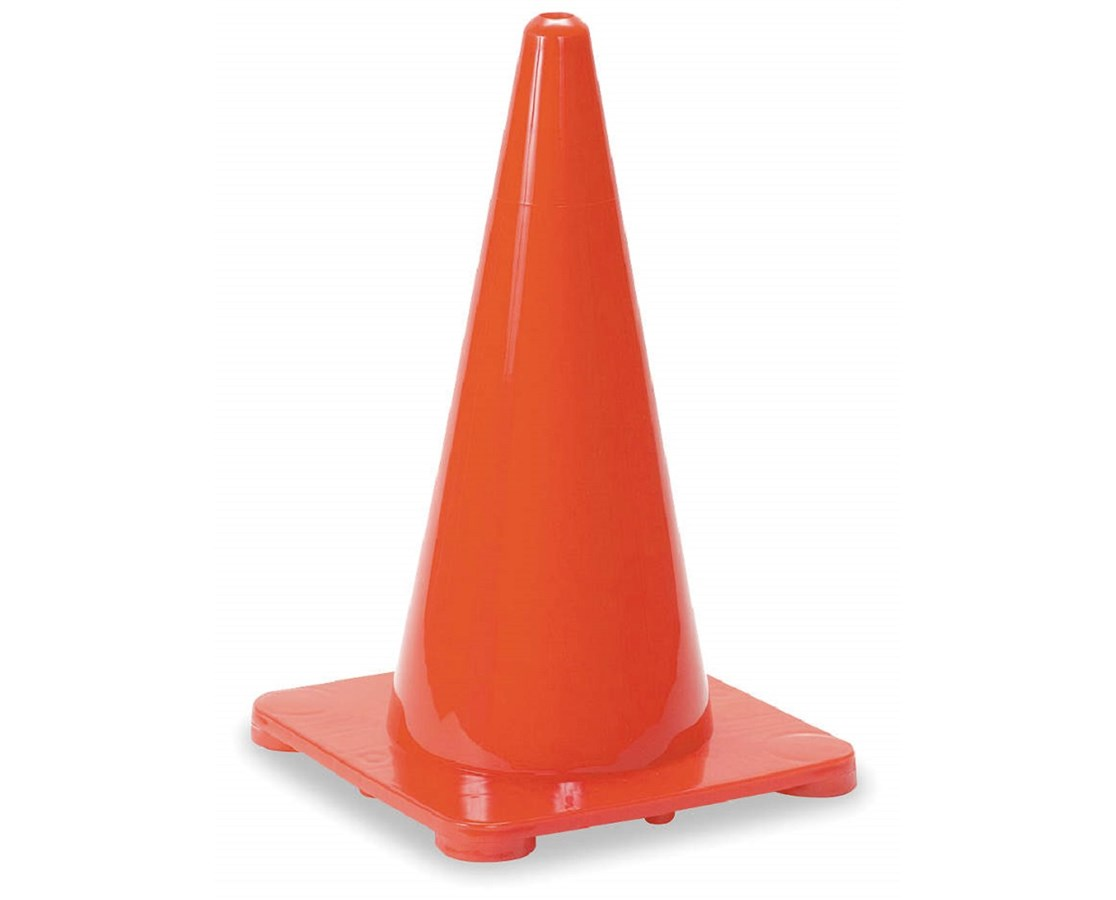 Eastern Metal TC1 Series Solid Fluorescent Orange PVC Cone EASTC1-18PO-