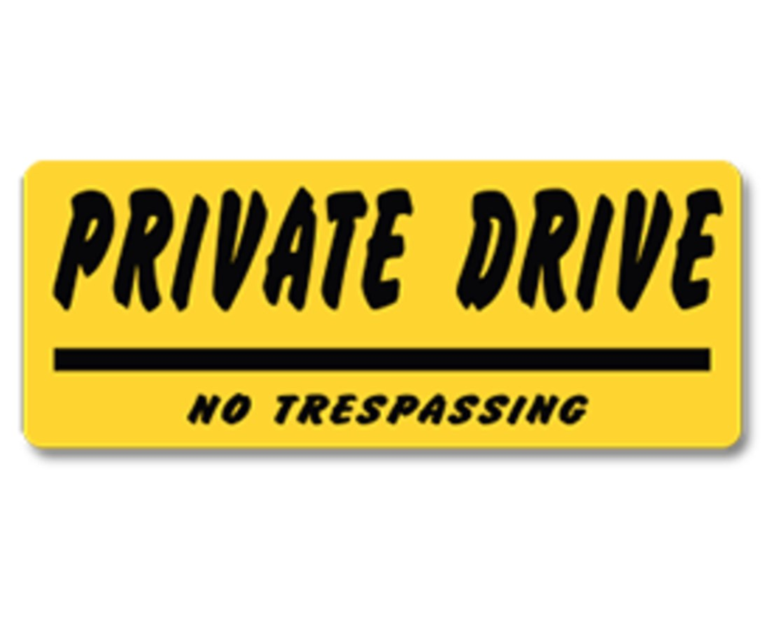 EverMark Private Drive No Trespassing Property Sign EVEYHM010-01