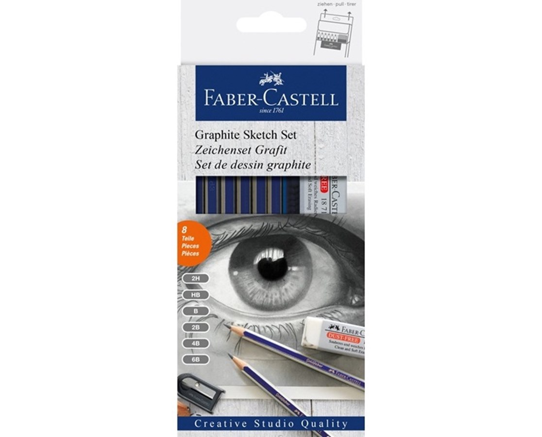 Faber-Castell Creative Studio Graphite Sketch Pencil Set FC900010