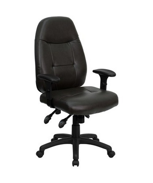 High Back Espresso Brown Leather Executive Office Chair [BT-2350-BRN-GG] FLFBT-2350-BRN-GG